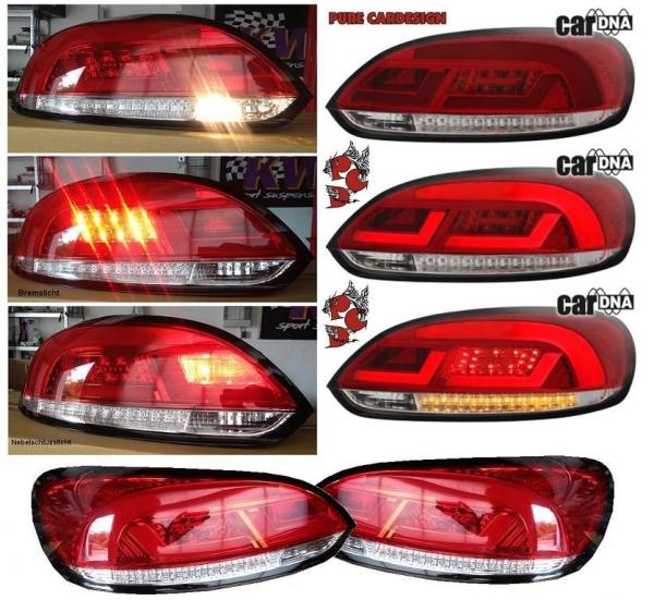 LED Rückleuchten VW SCIROCCO Typ 137 08-14 rot/klar