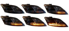 Halogen Scheinwerfer schwarz mit dynamischem Blinker Audi TT 8J 06-10