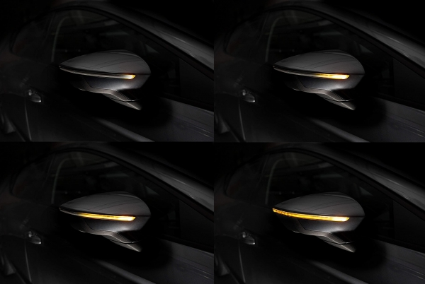 OSRAM Dynamischer LED Spiegelblinker Seat Leon 5F Laufblinker BLACK-EDITION