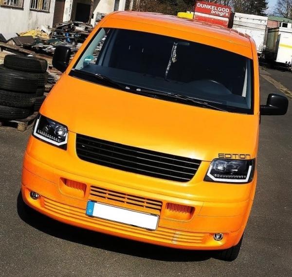 Tagfahrlicht Scheinwerfer dynamischer LED Blinker VW T5 03-09 Laufblinker