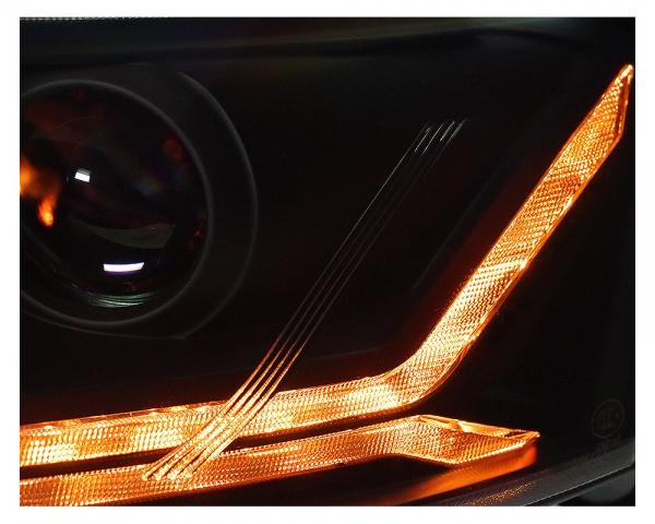 LED Tagfahrlicht Scheinwerfer Audi A6 4F C6 08-11 schwarz mit dynamischem Blinker für Original-Xenon