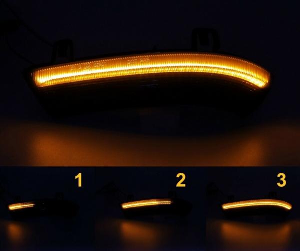 Dynamische Led Spiegelblinker schwarz VW Golf 5, Passat 3C B6, 3BG, Jetta