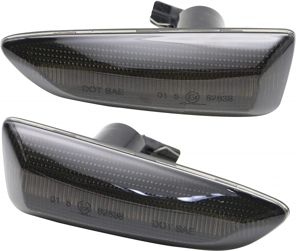 Dynamische Led Seitenblinker schwarz Opel Astra J 09-15 Astra K -19 Crossland X 17-19 Insignia B 17-19 Zafira C