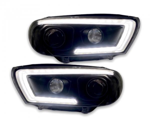 Tagfahrlicht Scheinwerfer schwarz mit dynamischem Blinker VW Scirocco 3 III 15-18 Halogen