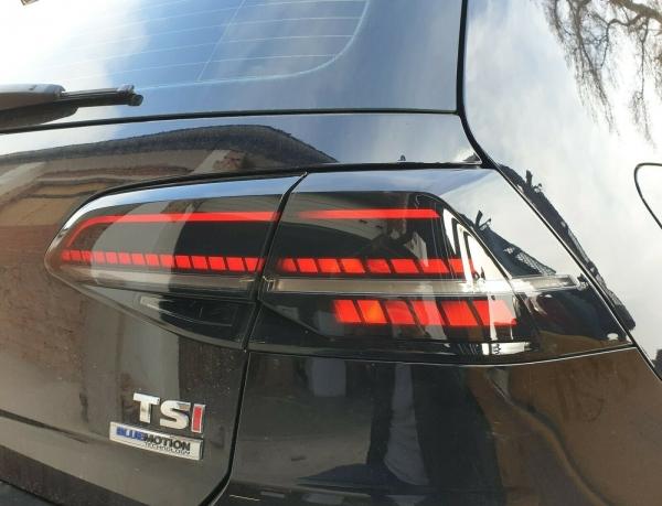 LED Rückleuchten schwarz smoke VW Golf 7.5 Facelift 17-19 dynamischer LED Blinker R-Look TC