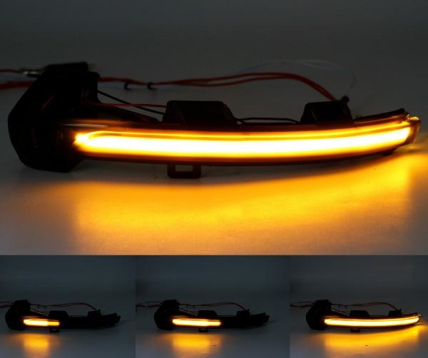 Dynamische Led Spiegelblinker schwarz VW Passat B8 15-19 + Arteon