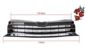 ABS Kunststoff Frontgrill Kühlergrill ohne Emblem VW T5 2009-2015 Facelift