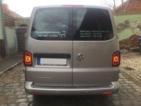 Voll LED Rückleuchten VW T5 2003-2015 schwarz grau Laufblinker Flügeltürer