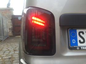 Voll LED Rückleuchten VW T5 2003-2015 schwarz rot Laufblinker Flügeltürer