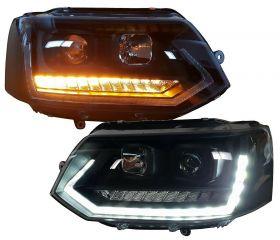 Tagfahrlicht Scheinwerfer dynamischer LED Blinker VW T5 09-15 Laufblinker