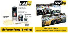 raid hp Bremssattellack rot 6-teilig 2-Komponenten-System