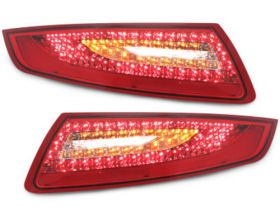 LED Rückleuchten Porsche 911 / 997 04-08 red/crystal rot chrom