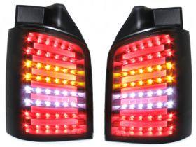 LED Rückleuchten VW T5 BUS 03-15 inkl. Facelift schwarz rauch