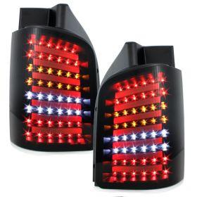 Lightbar LED Rückleuchten VW T5 BUS 03-15 schwarz Flügeltürer