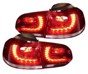 LED Rückleuchten VW Golf VI 6 08-12 red/crystal GTI-Look rot