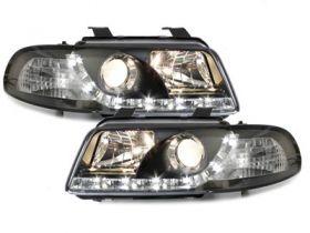 LED TAGFAHRLICHT Scheinwerfer AUDI A4 B5 95-98 black schwarz