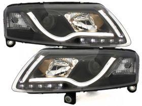 XENON Lightbar Scheinwerfer AUDI A6 4F 04-08 TAGFAHRLICHT schwarz