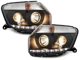 LED Tagfahrlicht Scheinwerfer Dacia Duster 09-14 schwarz