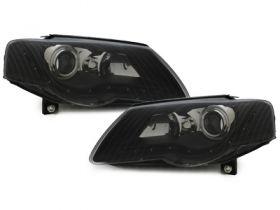 Scheinwerfer VW Passat 3C B6 05-10 Tagfahrlicht-Optik schwarz DEPO