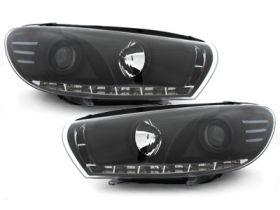 Scheinwerfer VW Scirocco 3 III 08-14 Led Tagfahrlicht-Optik schwarz