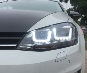 LED TAGFAHRLICHT Scheinwerfer VW Golf 7 dynamischer LED-Blinker