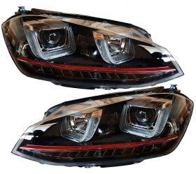 LED TAGFAHRLICHT Scheinwerfer VW Golf 7 dynamischer LED-Blinker GTI-Look