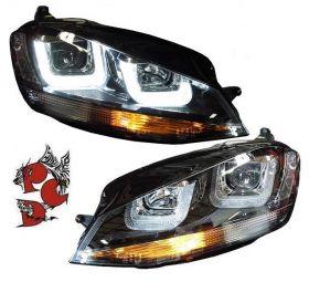 LED Tagfahrlicht Scheinwerfer VW Golf 7 VII 2013+ schwarz R-Look