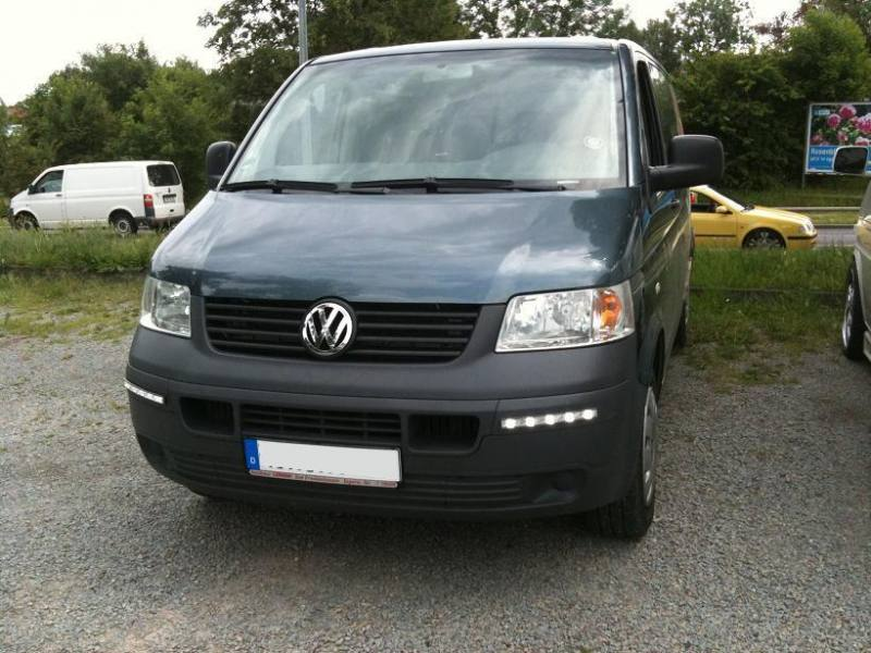 led tagfahrlicht vw t5 transporter chrom 03 09 mit. Black Bedroom Furniture Sets. Home Design Ideas