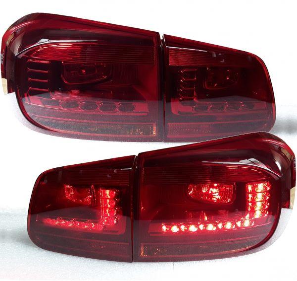 Led Ruckleuchten Vw Tiguan Facelift 11 Red Smoke Rot Rauch