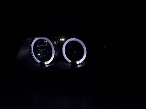 angel eyes scheinwerfer audi a4 b5 99 01 2 led ringe schwarz. Black Bedroom Furniture Sets. Home Design Ideas