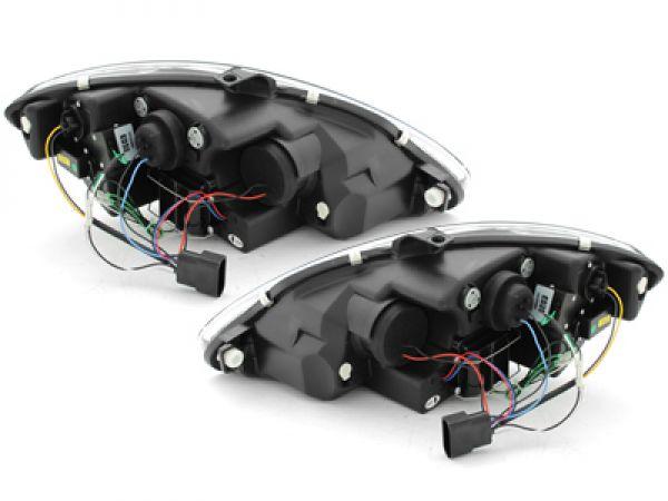 scheinwerfer seat leon 1p 09 12 tagfahrlicht optik schwarz. Black Bedroom Furniture Sets. Home Design Ideas