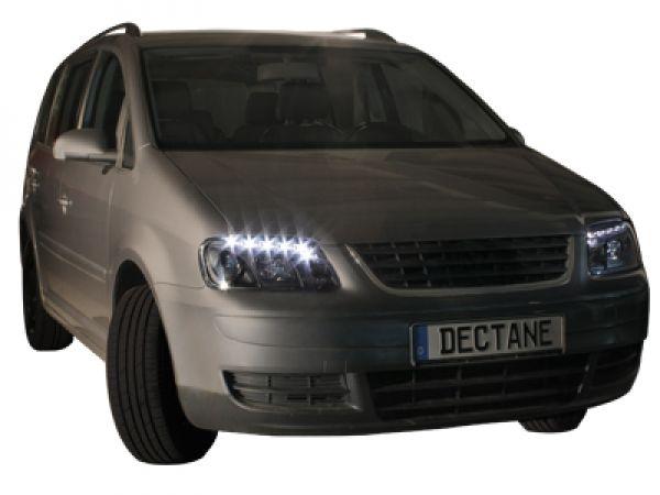 dayline led tagfahrlicht scheinwerfer vw caddy schwarz. Black Bedroom Furniture Sets. Home Design Ideas