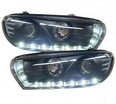 LED TAGFAHRLICHT Scheinwerfer VW Scirocco 3 III black schwarz