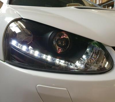 Scheinwerfer VW Golf 5 V 03-09 Tagfahrlicht-Optik schwarz Sonar
