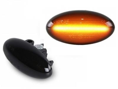 LED Seitenblinker Peugeot 206 306 407 607 schwarz Lightbar