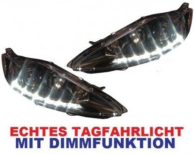 LED TAGFAHRLICHT Scheinwerfer Ford Fiesta MK7 JA8 08-12 schwarz