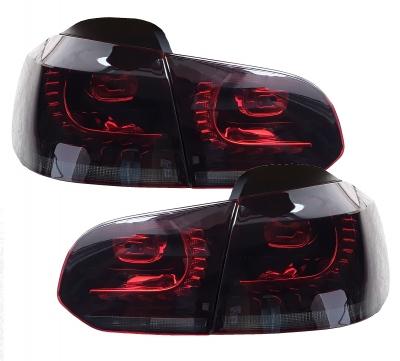 LED Rückleuchten VW Golf VI 6 08-12 GTI R-Look rot-schwarz