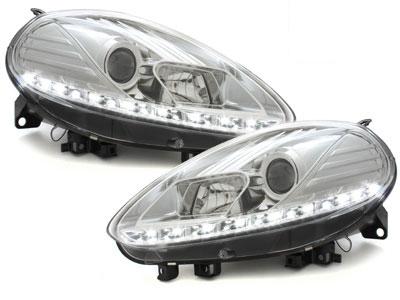 LED TAGFAHRLICHT Scheinwerfer Fiat Punto Evo 09-11 chrom