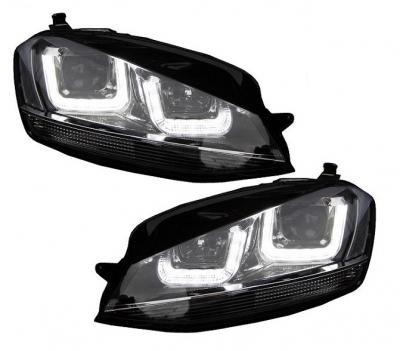 LED Tagfahrlicht Scheinwerfer VW Golf 7 VII 2013+ schwarz/chrom