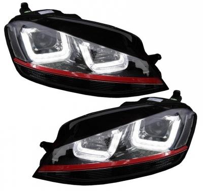 LED Tagfahrlicht Scheinwerfer VW Golf 7 VII 2013+ schwarz rot