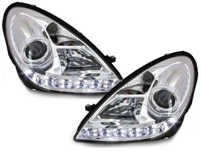 LED TAGFAHRLICHT Xenon Scheinwerfer MERCEDES SLK R171 04-11 chro