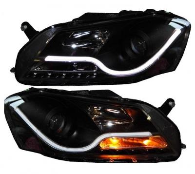 Lightbar Scheinwerfer VW Passat 3C B7 2010+ schwarz