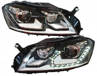 Scheinwerfer schwarz VW Passat 3C B7 11/10+ Tagfahrlicht-Optik