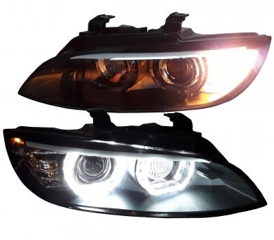 LED DRL Xenon Scheinwerfer BMW E92 E93 05-10 schwarz mit AFS/Kurvenlicht