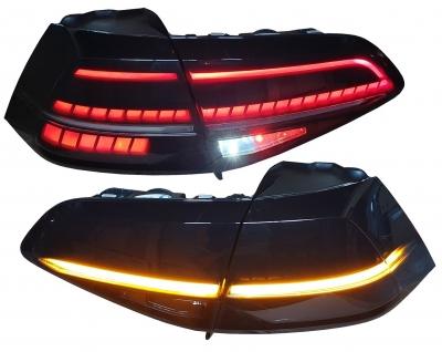 LED Rückleuchten Golf 7 2013+ dynamischer LED Blinker R-Look schwarz smoke TC
