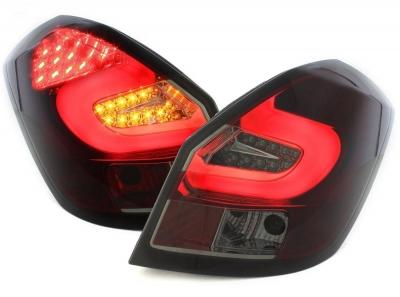 LED Rückleuchten Skoda Fabia 5J 07-14 5-Türer + Kombi rot-schwarz dunkelrot