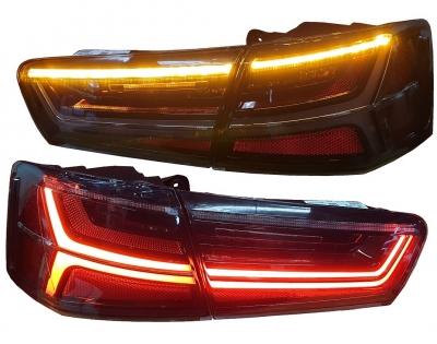 LED Rückleuchten AUDI A6 4G 11-14 Limousine LAUFBLINKER schwarz