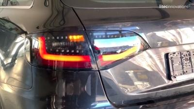 LITEC LED Rückleuchten rot rauch mit dynamischem Blinker Audi A4 B8 8K 08-11 Avant mit Halogen