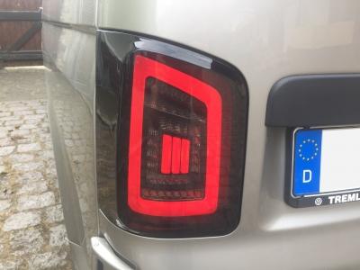 Voll LED Rückleuchten VW T6.1 2019+ schwarz rot Laufblinker Flügeltürer