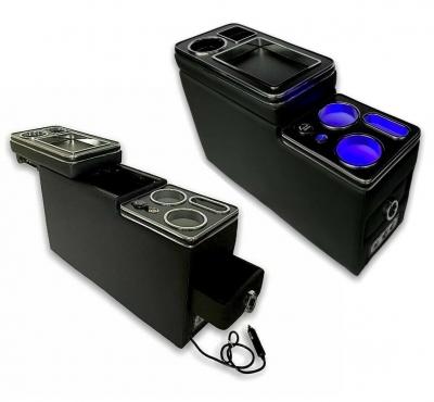 Mittelkonsole schwarz universell USB LED passend für Ford Opel Nissan Renault